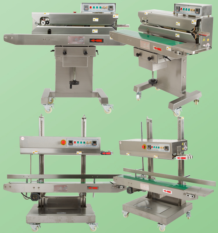 Continuous Bag Closer Small Continue Sealing Machine Price with for Bagged Sacked Products Packing