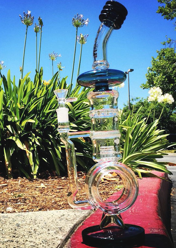 2016 New Design Honeycomb Birdcage Perc Recycler Smoking Glass Water Pipe