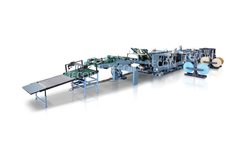 High Speed Paper Bag Making Machine with 2 Colors Printing