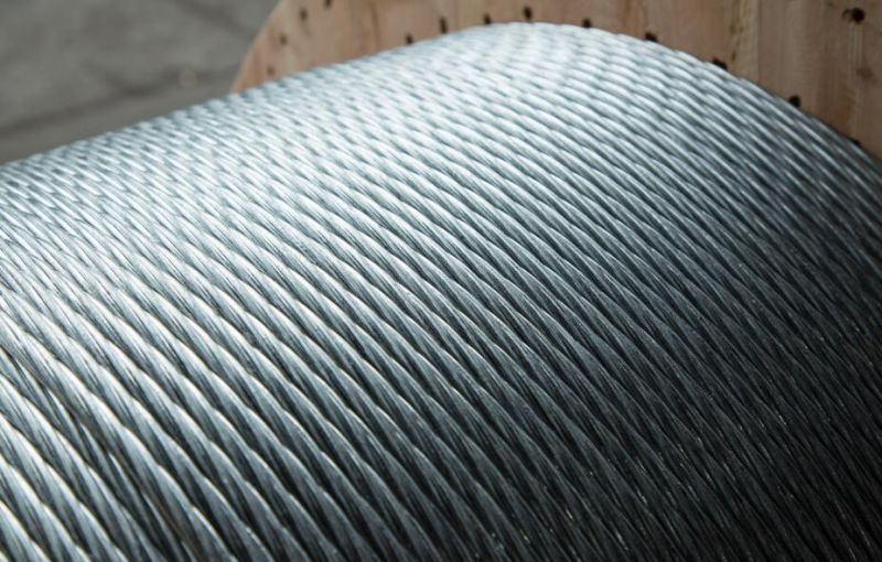 1*7 Wires Low Relaxation Galvanized Strand ASTM A475 B498