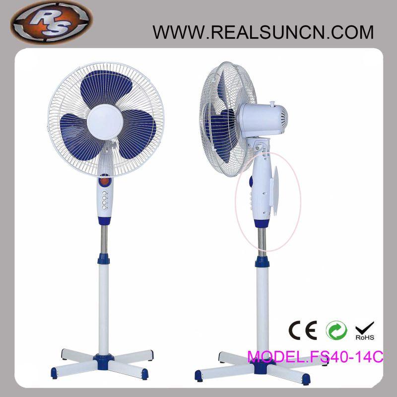 Stand Fan Pedestal Fan with Plug Hook