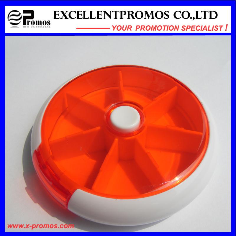 Round Shape High Quality Logo Customized Pillbox (EP-038)