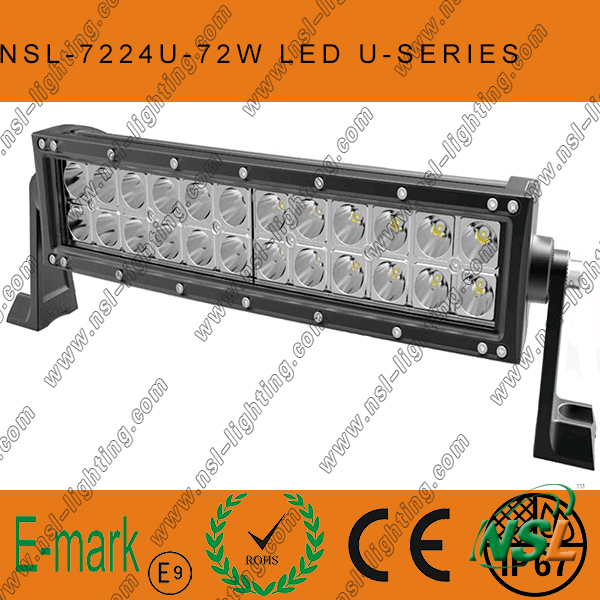 3PCS*24W LED off Road Light Bar, 19inch LED Curved Light Bar, Creee LED Light Bar