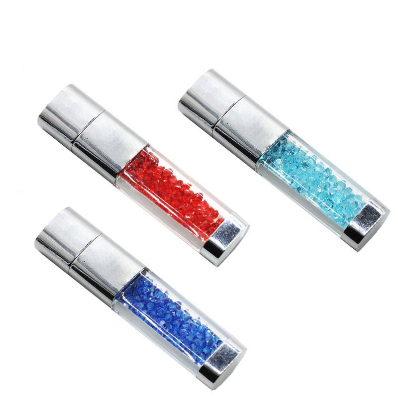 Glitter Lipstick Crystal USB with Multicolors 2GB, 4GB, 8GB