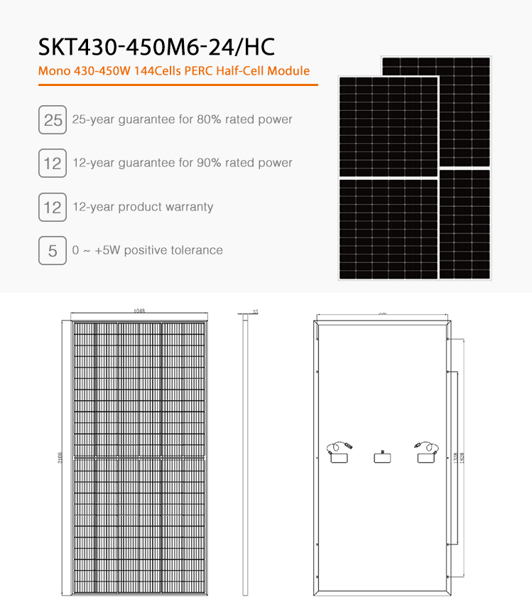 440W High Efficiency Solar Panel