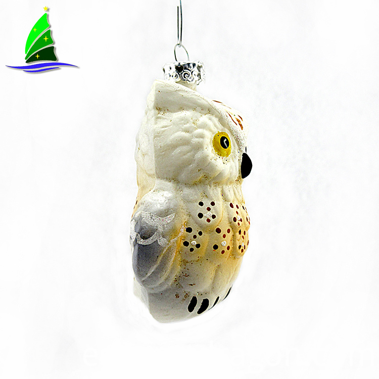 Christmas Glass Owl Ornaments