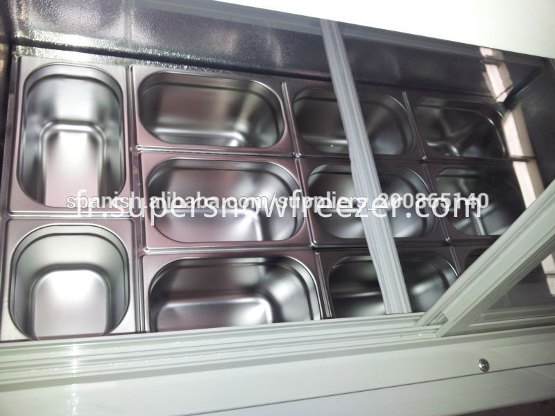 ice cream storage freezer