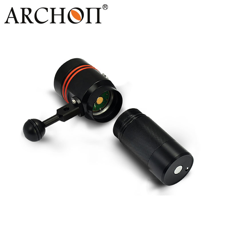 Archon 110 Wide Light Angle Button Switch 2600lm Diving Video Torch W40V