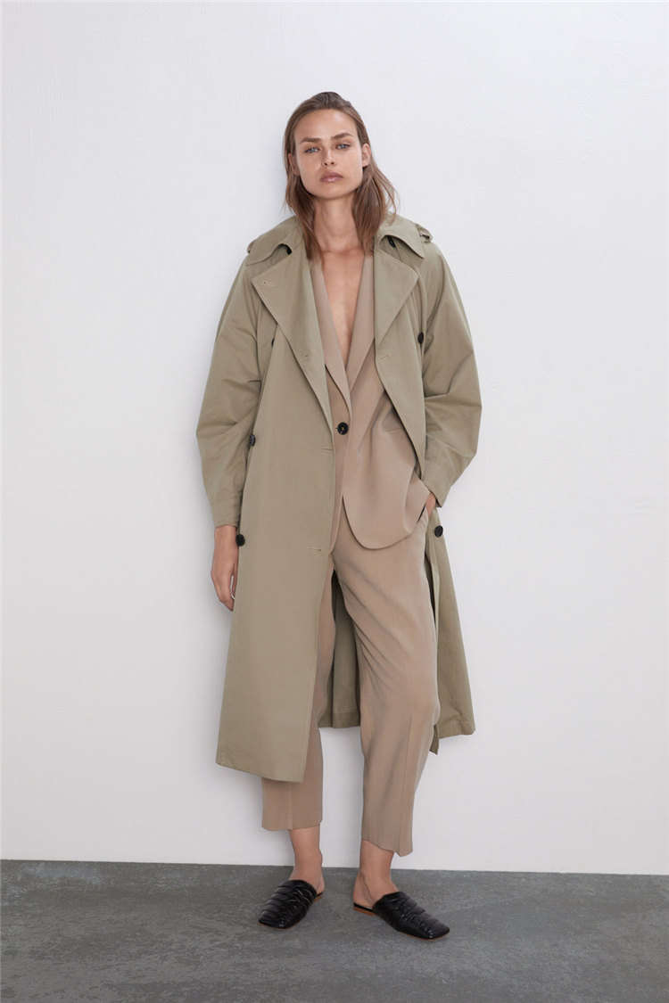 Hot Sale Embroided Trench Coats For Winter Women