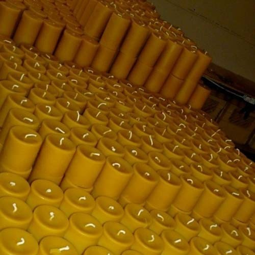 4Inch Beeswax Pillar Candle