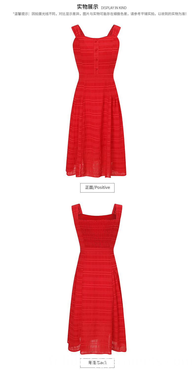 Women Summer Red Dress