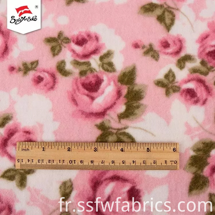 Flower Fleece Fabric Fall Winter
