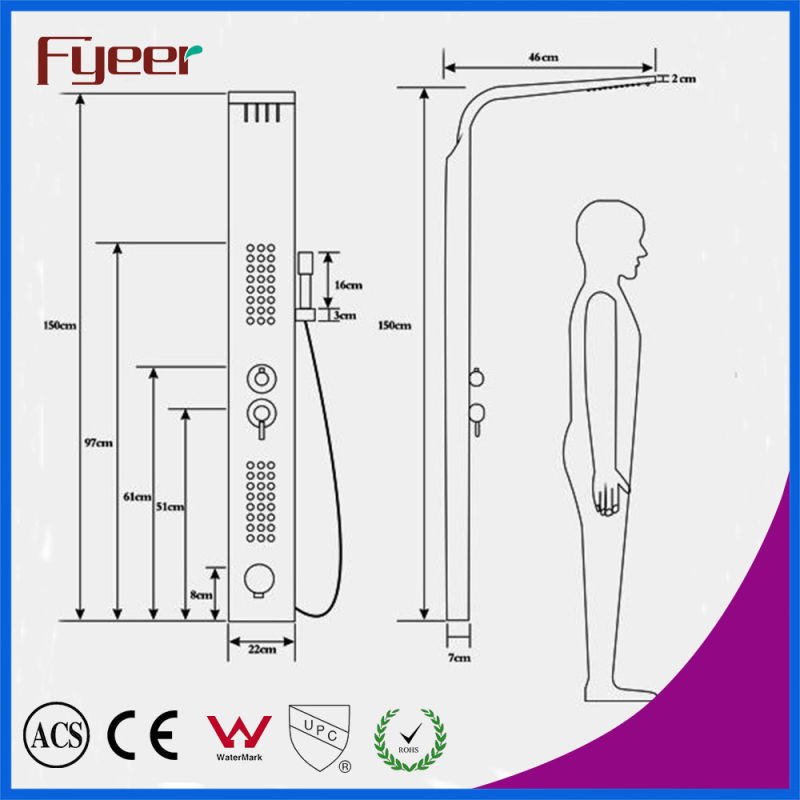 Fyeer High Quality Muitifunction 304 Stainless Steel Shower Panel