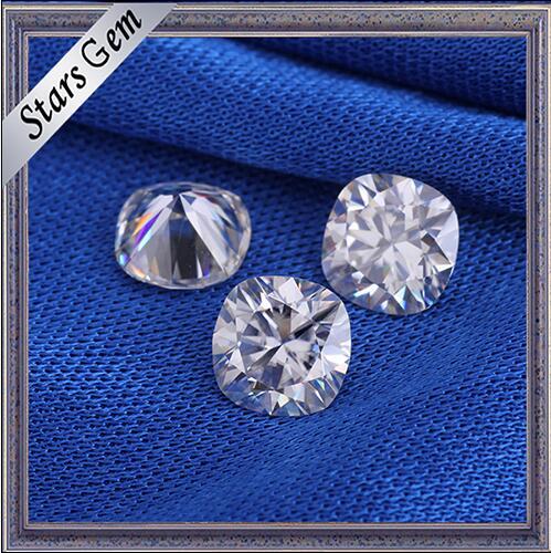 Hot Sale 9X9mm Cushion Shape Big Size White Synthetic Moissanite Diamond