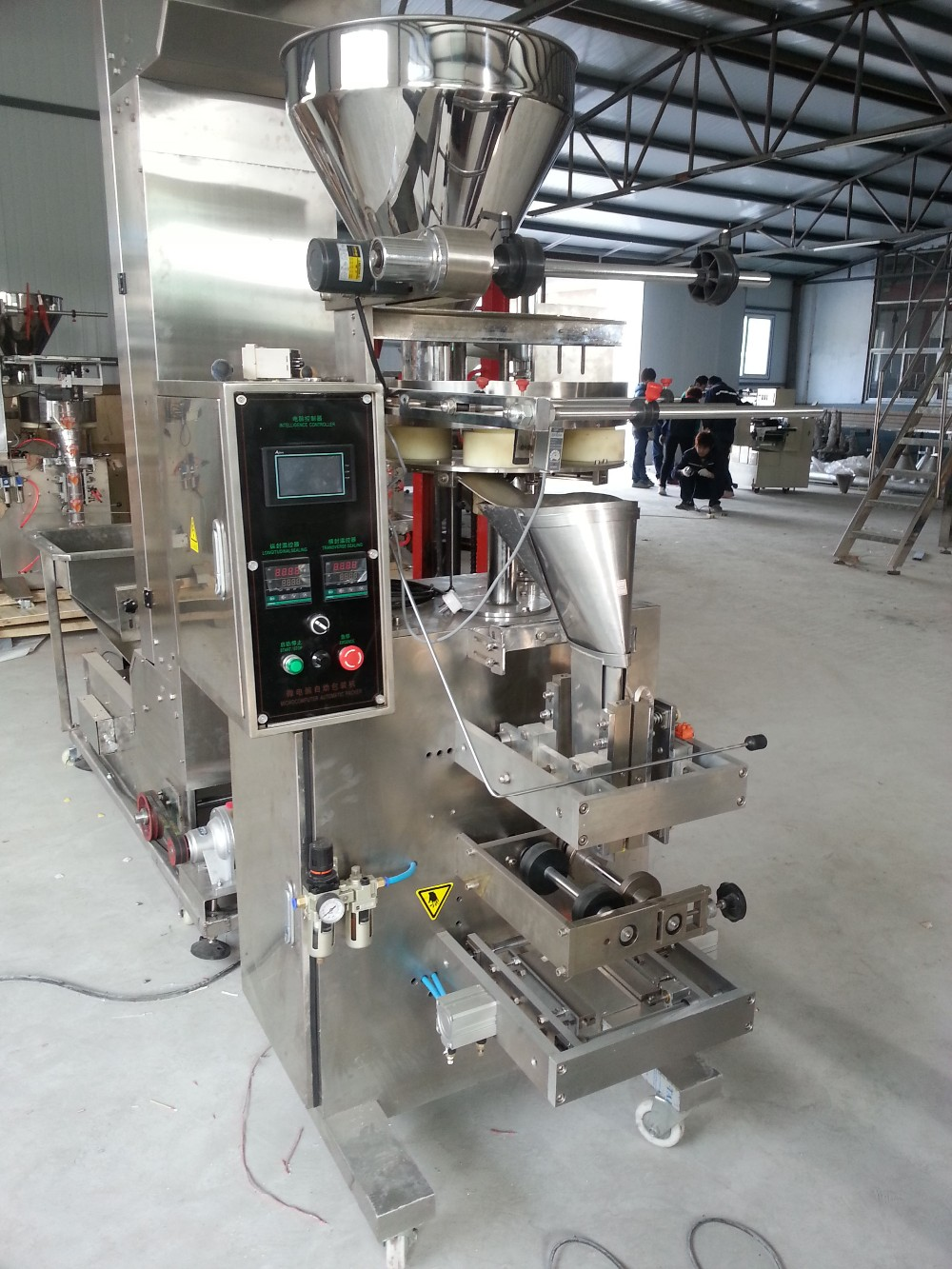 automatic four side sealed spice packaging machine