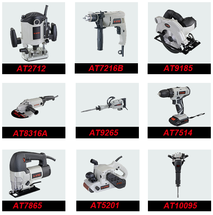 220-240V 10mm Wood Working Electric Drill for Power Tool (AT7225)