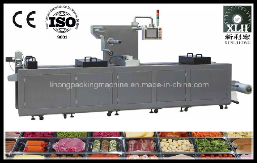 Dlz-460 Full Automatic Continuous Stretch Cooked Food Vacuum Packaging Machine