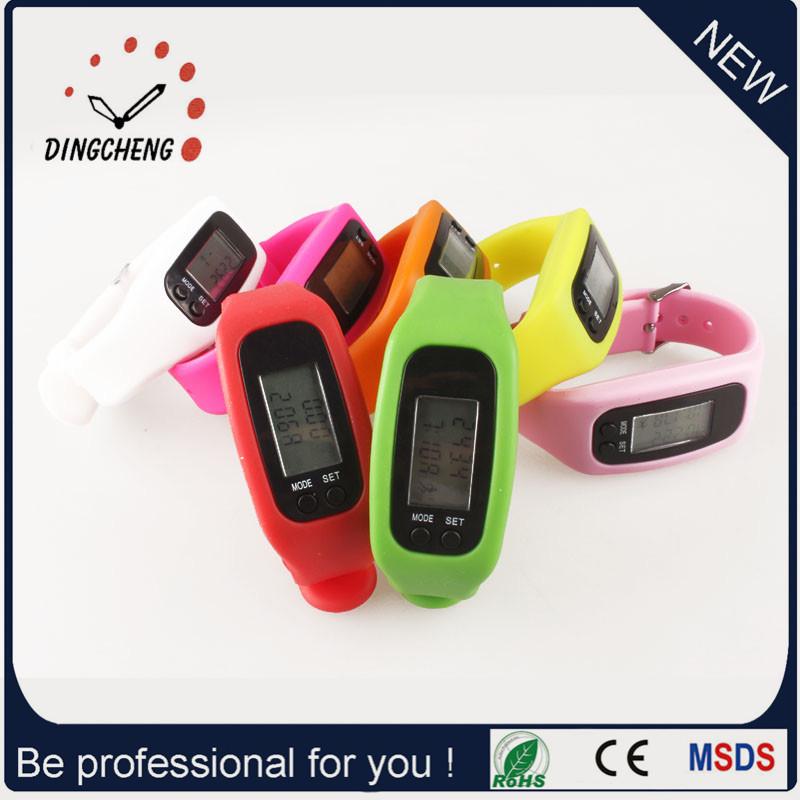Gift Watch Pedometer Wristwatch Silicone Bracelet Watch (DC-001)