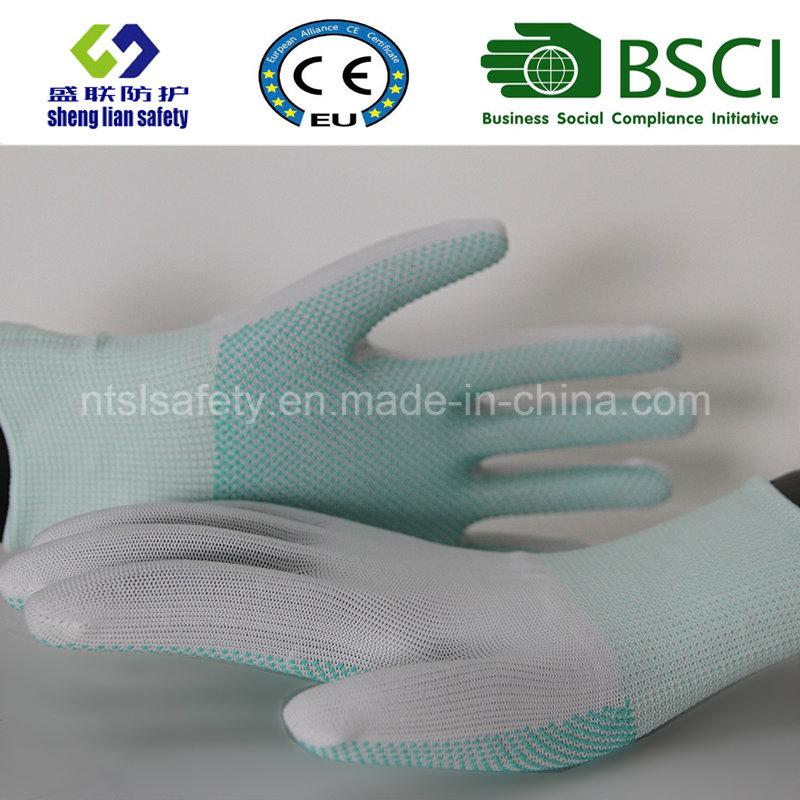 PVC Dots Polyester Work Safety Gloves
