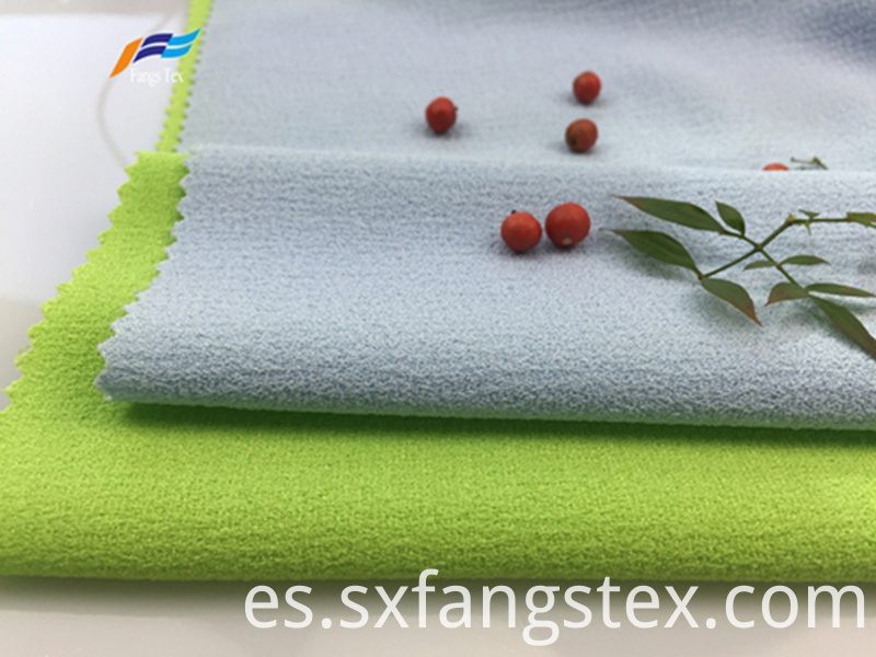 100% Polyester Fleece Crepe Dyed PD Clothing Fabric 1