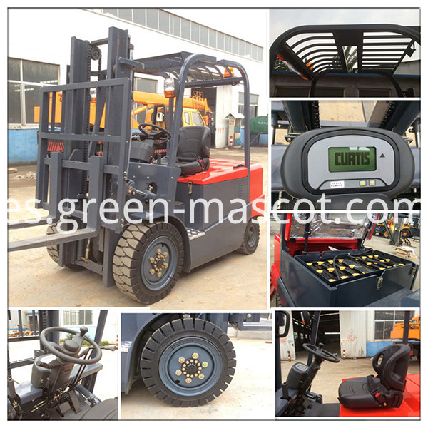 High quality 3500kg Battery operated forklift