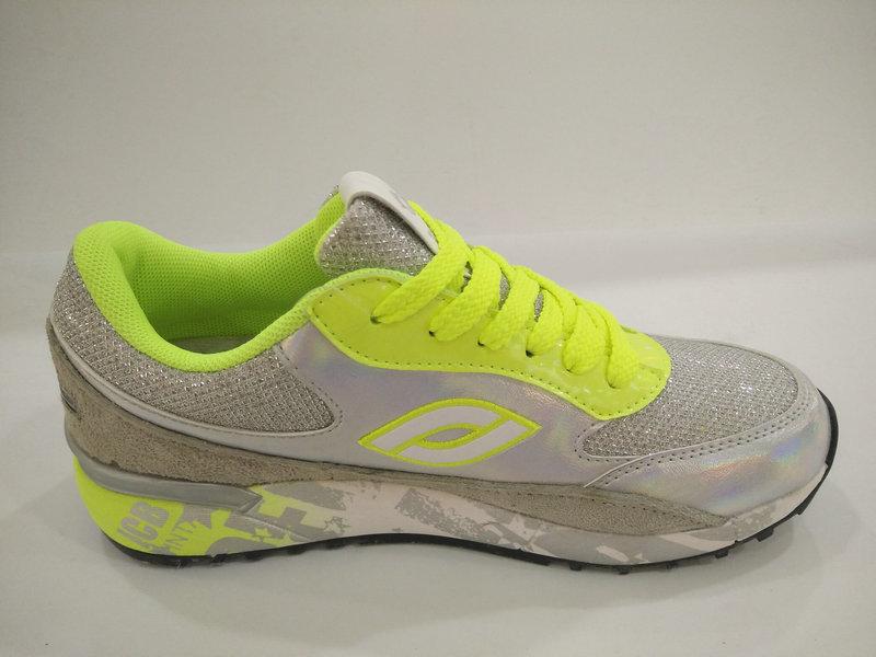 2016 Lemon Silver Shiny Sport Shoes for Women