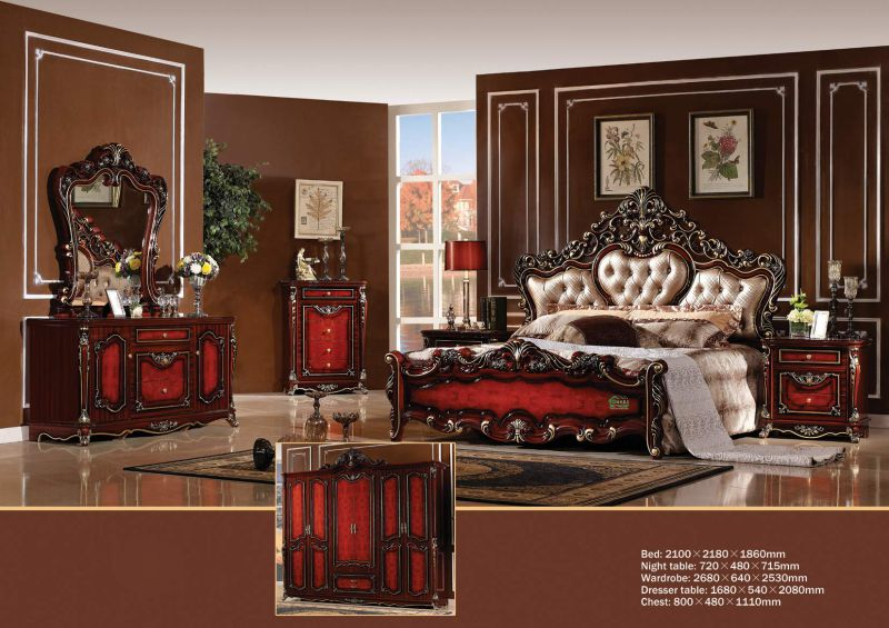 Bed for Classic Bedroom Furniture (W816)