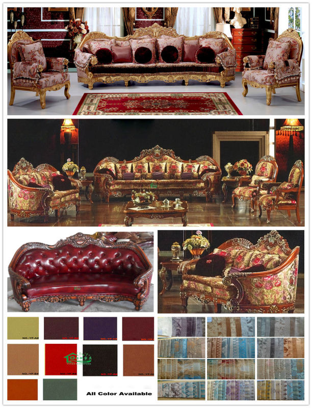 Wooden Sofa Set with Sofa Chair for Home Furniture (D962)