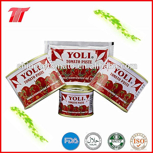 High Quality 70g and 210g Tomato Paste of Yoli Brand
