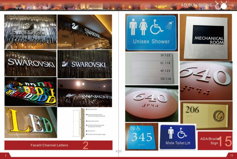 Customized 3D Steel Fabricated Illuminated and Non-Illuminated Letters Sign