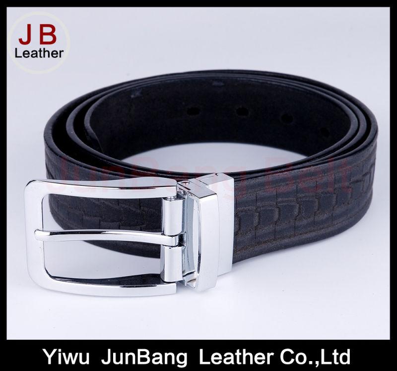 Fashion Men's Spilt Leather Belt with Reversible Buckle