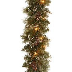 9 FT. Long Frosted Tips Christmas Garland with 50 LED Lights (MY205.447.00)