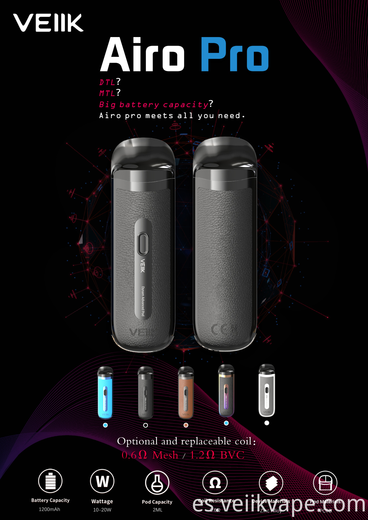 Coil Replaceable Vape Pod