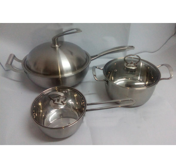 High Quality Stainless Steel 6PCS Cookware Set Kitchenware
