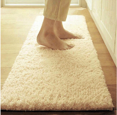 High Quality Microfiber Silk Wool Mat Floor Rug