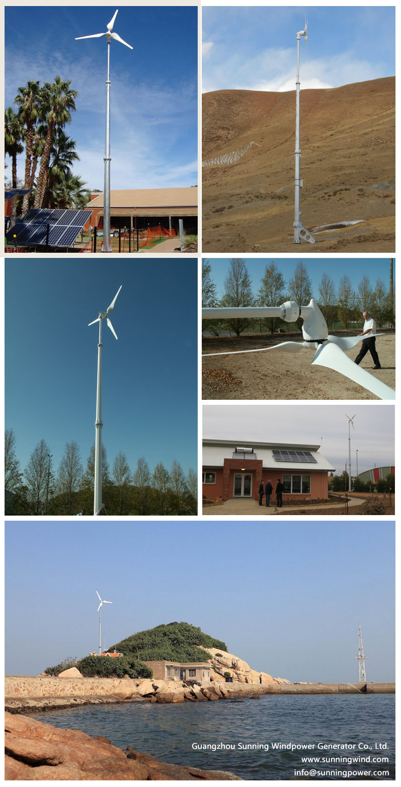 Sunning New Model Price 5000W Residential Wind Power for Home Use