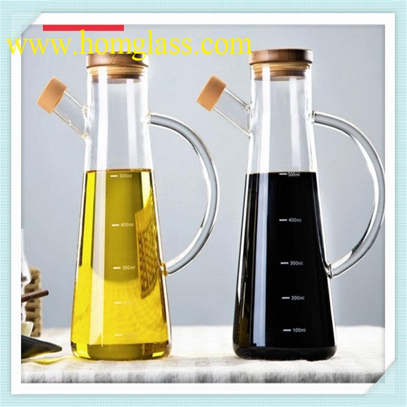 Kitchen Glassware Glass Jar Storage by Heat-Resistant Borosilicate Glass