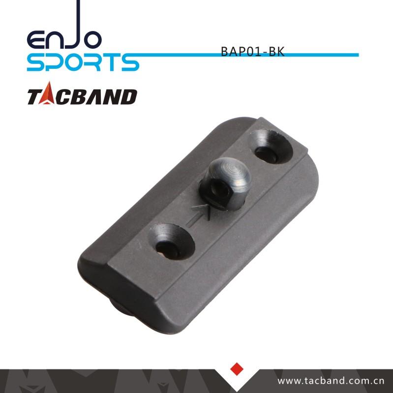 Tacband Tactical Bipod Adaptor for Keymod - with Bipod Stud Black