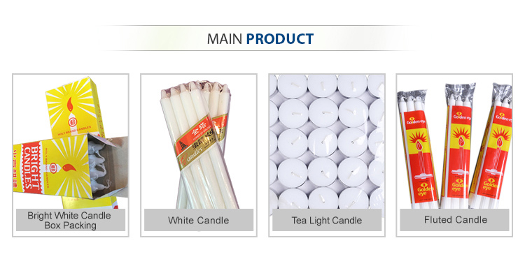 Cellophane candles