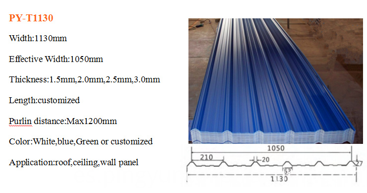 blue asa pvc roof tile for warehouse