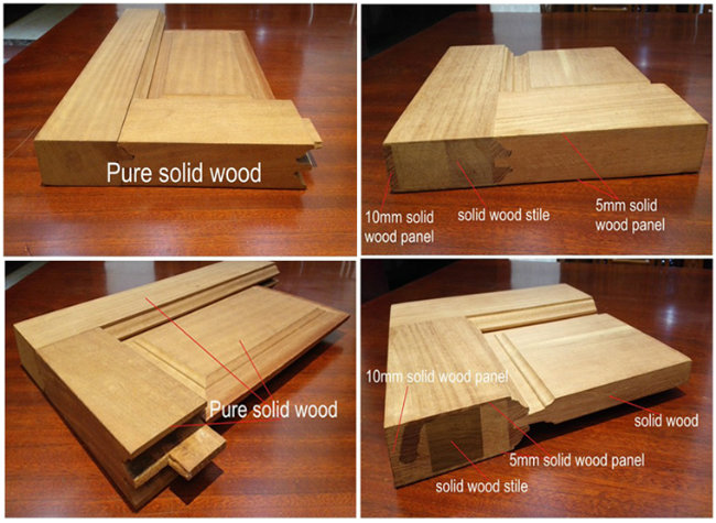 Interior Classic Solid Wood White Painting Glass Door for Projects