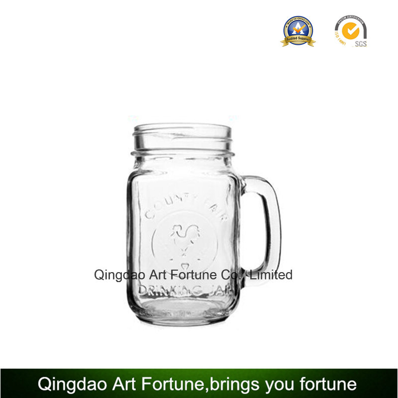 Printed Glass Mason Jar Candle for Home Decoration