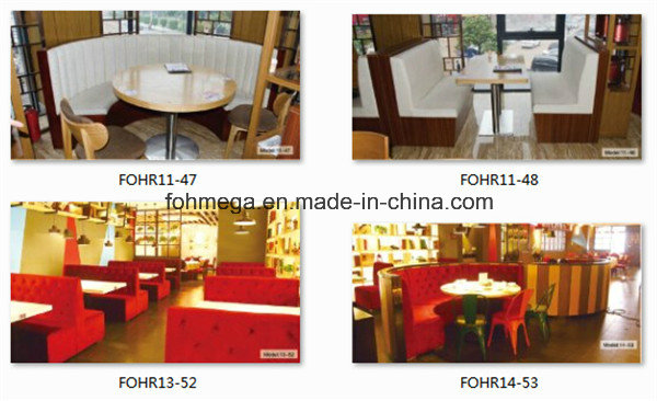 Hotsale Style Restaurant Dining Booth and Table Set (FOH-CBCK70)