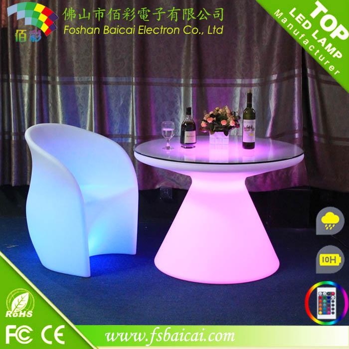 Illuminated LED Bar Table / LED Bar Furniture / Hotel Furniture