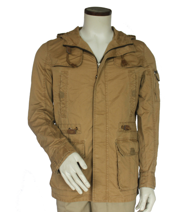 Men's Winter Thick Warm Military Jacket Full-Zip Outcoat Faux Fur Lined