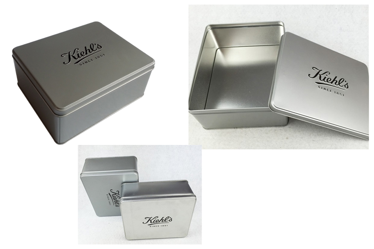 Korea Metal Cosmetic Tin Box Perfume Packaging Tin Container Promotion