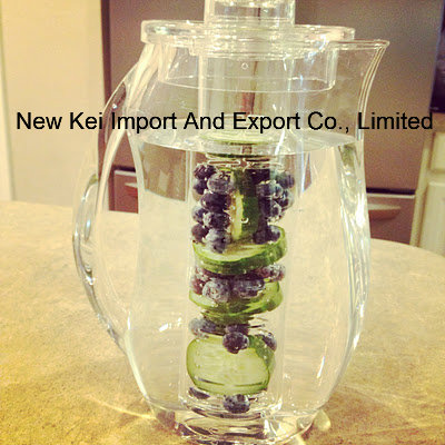 Wholesale Fruit Infuser Water Pitcher with Ice Core Rod