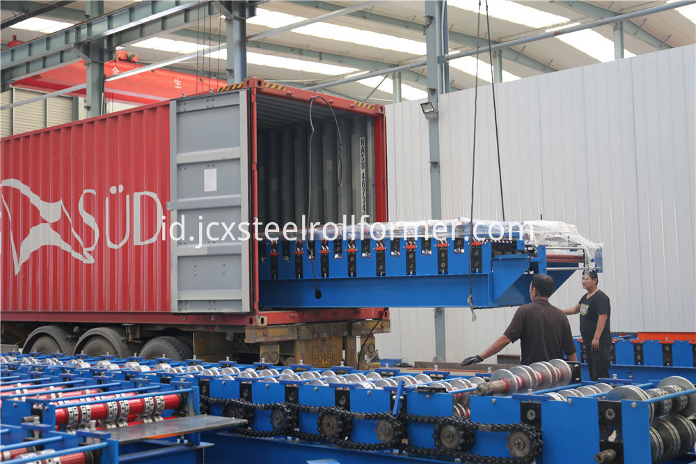 Pemasok Adjustable C Z Purlin Cold Roll Forming Machine