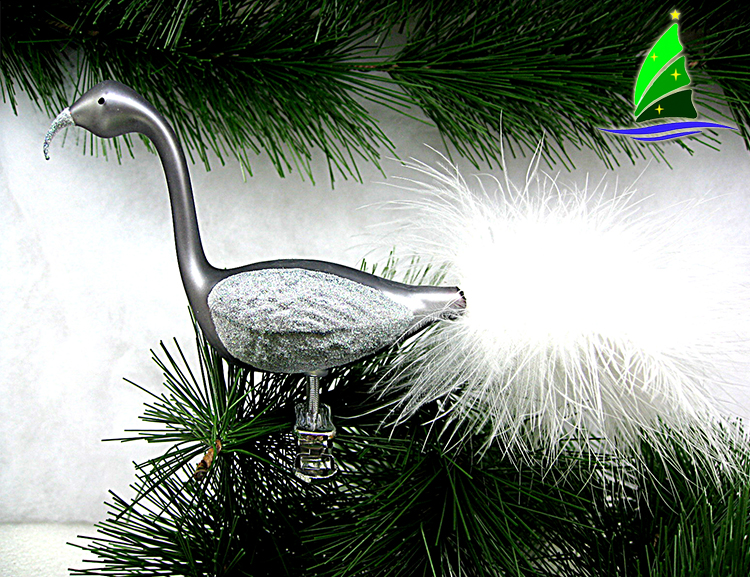 Glass Flamingo Ornaments