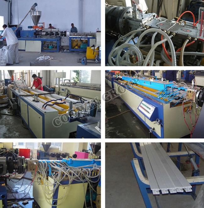 Outdoor Decoration WPC Decking Wood Plastic Composite Production Line